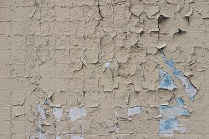Weathered paint on tiles wall.