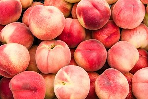 White peaches at the market