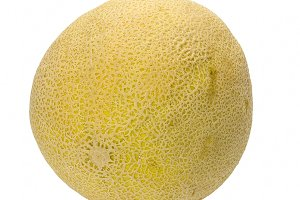 Cantaloupe on white
