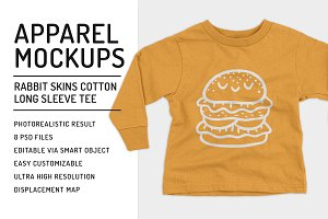 Toddler Longsleeve T-Shirt Mockups