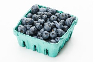 Blueberries in box
