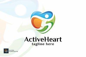 Active Heart - Logo Template