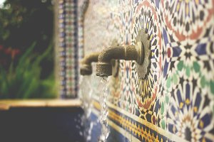 Mosaic Water Fountain