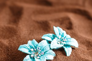 Blue jewellery flowers
