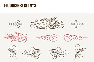 Flourishes Vector Kit N°3