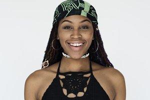 a beautiful woman with braids