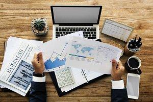 Laptop Calculator Business Financial