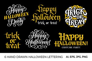 6+6+6 Halloween hand lettering!