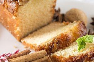 Homemade cinammons cake