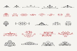Vintage Vector Centered Ornaments