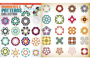 Set of colorful geometric symmetric shape