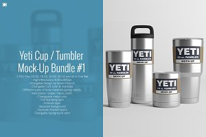 [-50%] Yeti Cup Mock-Up Bundle #1