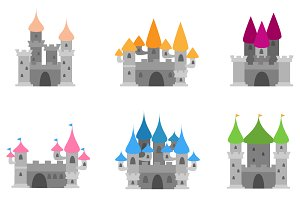 Castles Vectors and Clipart