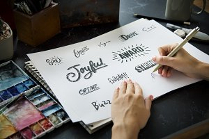 Font Illustration Design Art Words