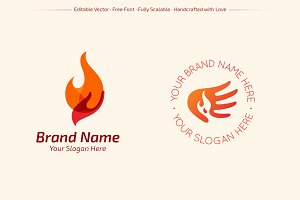 Hands of Fire Logos