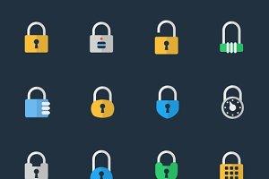 Vector padlock icons