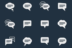 Simple speech bubble icons