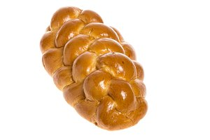 Challah bread isolated