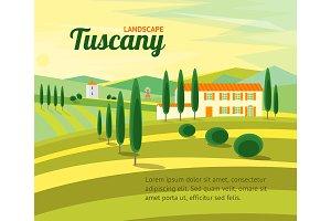 Tuscany Rural Landscape Card