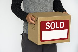 Parcel with sold banner