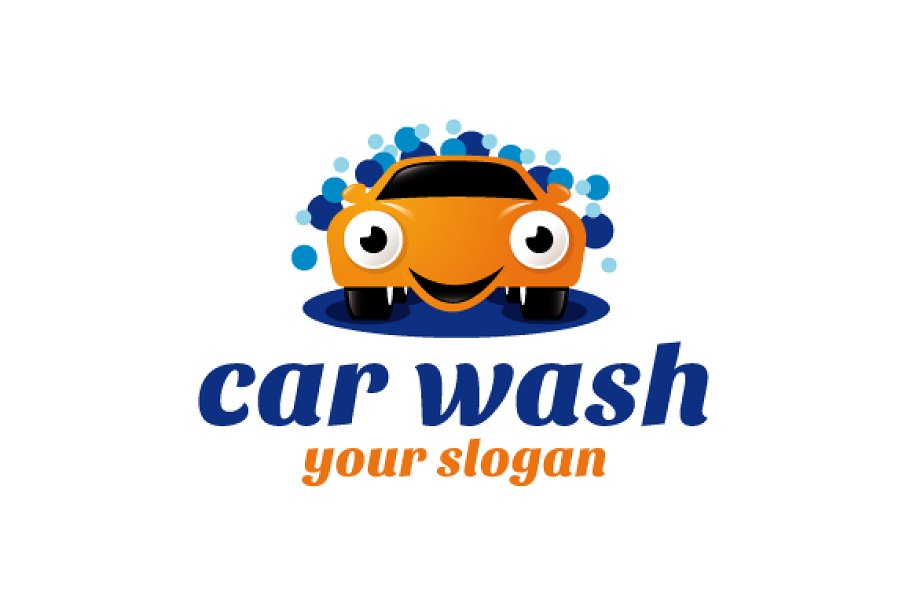 Car Wash Logo Template Logo Templates Creative Market
