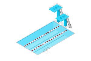 Swimming Pool Isometric