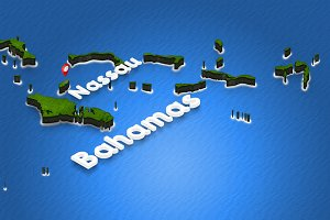 Map of Bahamas
