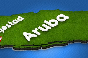 Map of Aruba