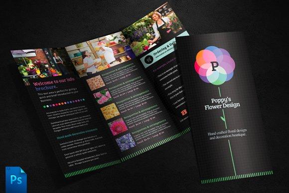 Flower Shop Brochure Template Brochure Templates Creative Market - Print brochure templates