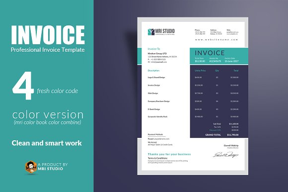 Creative Invoice Template-Graphicriver中文最全的素材分享平台