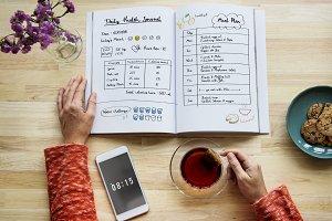 Health diary plan
