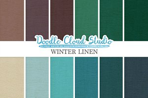 Winter Linen Fabric