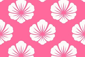 Wallpaper seamless with white flower