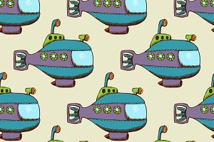 Submarine pattern seamless flat