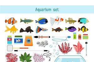 Aquarium underwater elements