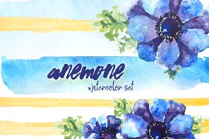 Anemone - watercolor set