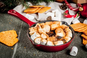 Indoor s'mores, baked s'mores dip