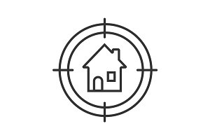 House searching linear icon