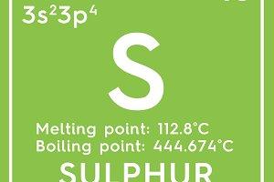 Sulphur. Sulfur.