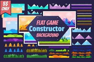 Flat Game Constructor +6 Backgrounds