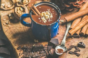 Rich winter hot chocolate