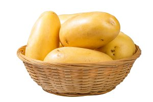Basket of white potatoes