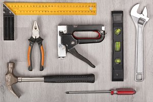 Tool kit on desk
