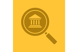 Bank search glyph color icon