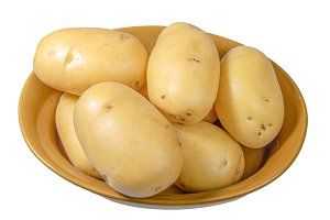 Bowl of white potatoes