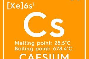 Caesium. Cesium.