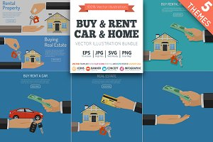 Buy and Rent Real Estate and Car