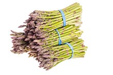 Asparagus bunches isolated