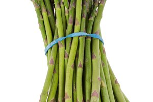 Bunch of fresh asparagus isolated