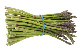 Bunch of asparagus isolated